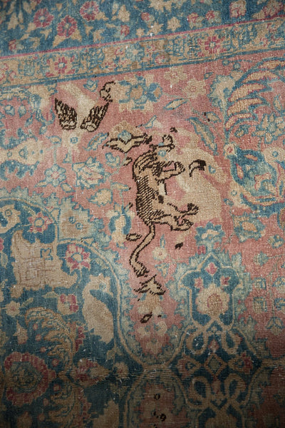 Vintage Distressed Tabriz Carpet / ONH item ee003638 Image 6