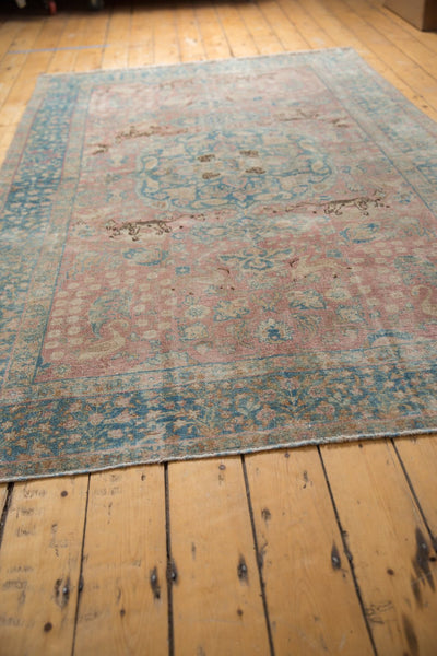 Vintage Distressed Tabriz Carpet / ONH item ee003638 Image 7