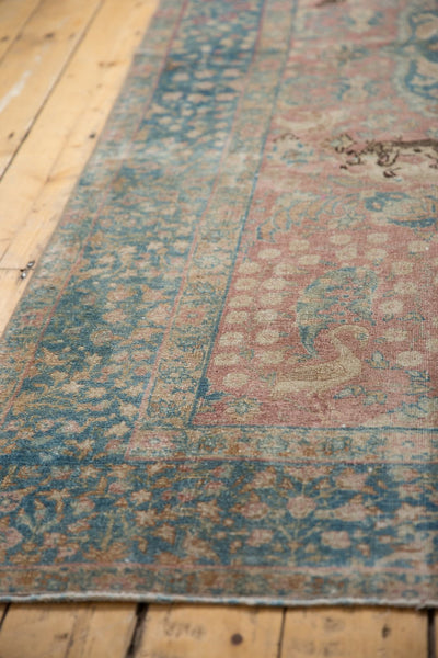 Vintage Distressed Tabriz Carpet / ONH item ee003638 Image 8