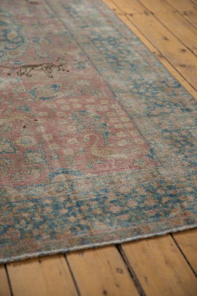 Vintage Distressed Tabriz Carpet / ONH item ee003638 Image 9