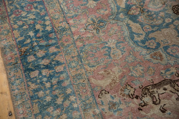 Vintage Distressed Tabriz Carpet / ONH item ee003638 Image 10
