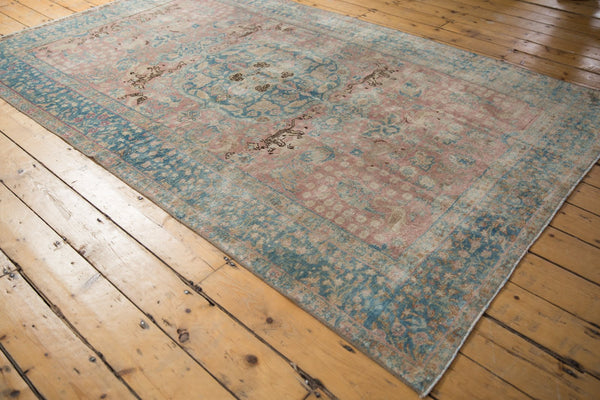 Vintage Distressed Tabriz Carpet / ONH item ee003638 Image 11