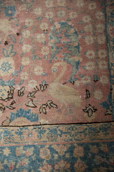 Vintage Distressed Tabriz Carpet / ONH item ee003638 Image 14