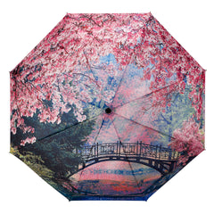 Cherry Blossoms Folding Umbrella