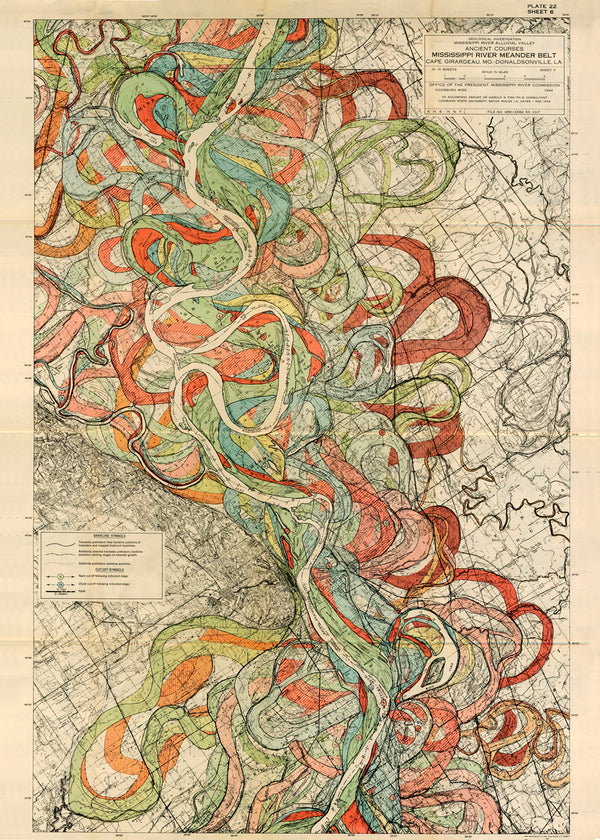 Plate 22, Sheet 6, Ancient Courses Mississippi River Meander Belt