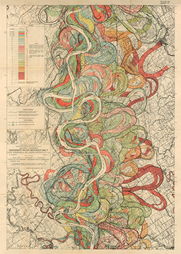 Plate 22, Sheet 7, Ancient Courses Mississippi River Meander Belt