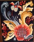 B505: Rosemaling Tote, Hooked by Pam Schmelzle