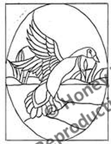 P641: Stained Glass Goose, Offered by Honey Bee Hive