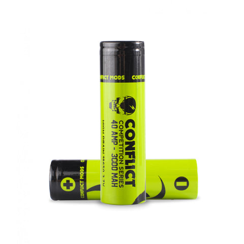 CONFLICT COMPETITION | 18650 Battery | 3000mah | 40A