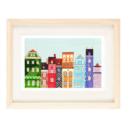 POZNAN, POLAND ILLUSTRATION GICLEE ART PRINT BY ANNA SEE
