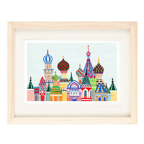 RUSSIAN ARCHITECTURE ILLUSTRATION GICLEE ART PRINT BY ANNA SEE