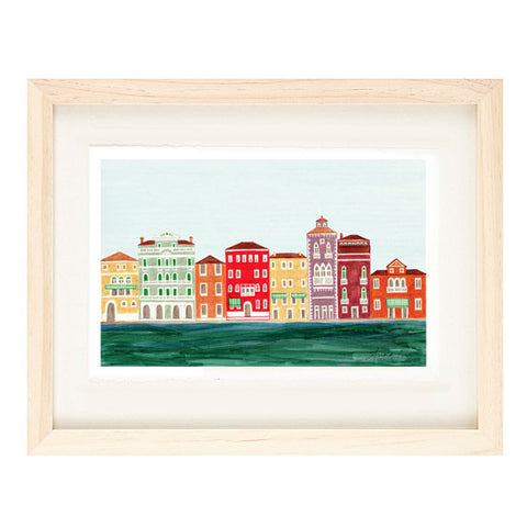 VENICE ILLUSTRATION GICLEE ART PRINT BY ANNA SEE