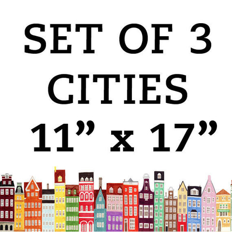 CITIES 11 x 17 SET