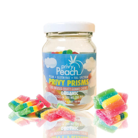 CBD Gummies - Fruity and sour vegan-privy prism