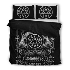 Another view of Brutal Ouija Bedding Set
