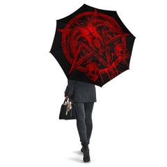 View Image of Brutal Baphomet Umbrella - Red