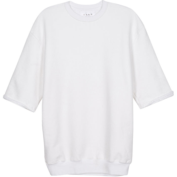ADBD Standard S/S Loop Terry Crew Pullover (White)