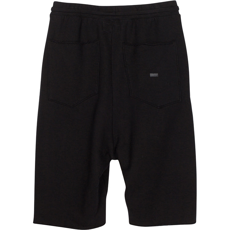 ADBD Extended Drop Crotch Loop Terry Shorts (Black)