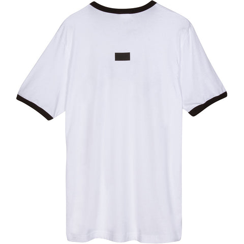 Curved A.D.B.D. Ringer Tee (White)