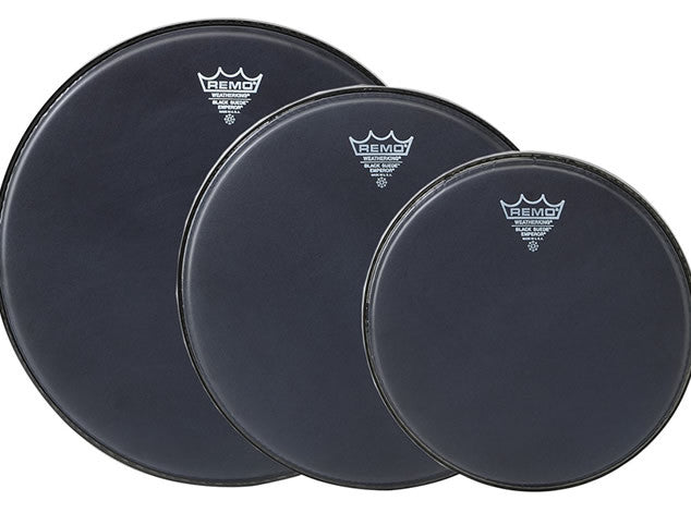 Remo Black Suede Emperor Drum Head Pack
