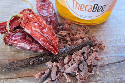 TheraBee Culinary Infused Honey - Chipotle and Raw Cacao