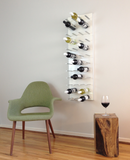 STACT wall mounted wine racks in white with green furniture