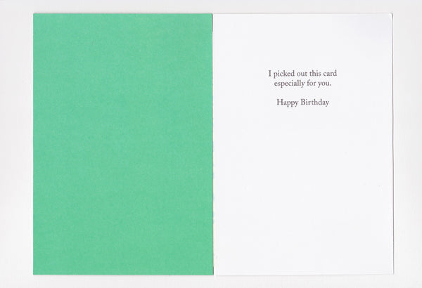 greetings: here's your birthday card