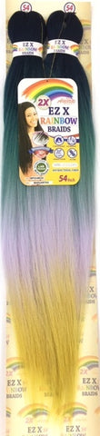 Amour Hair Collection 2X Ez X Rainbow Pre-Stretched Braids - 54 Inches