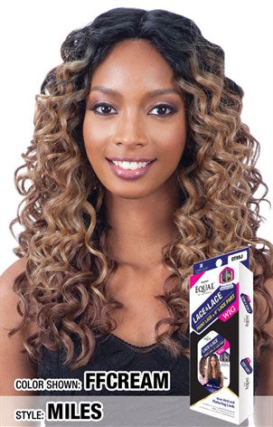"Freetress Equal Lace & Lace 6"" Lace Part Lace front Wig - Miles"