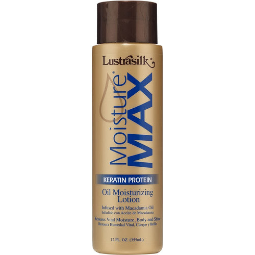 Lustrasilk Moisture Max Oil Moisturizing Lotion (12 oz) - Beauty Empire
