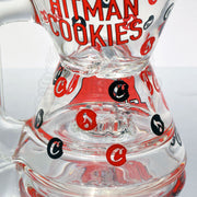 Hitman x Cookies Glass Phase2 Hourglass Rig - Smoke City