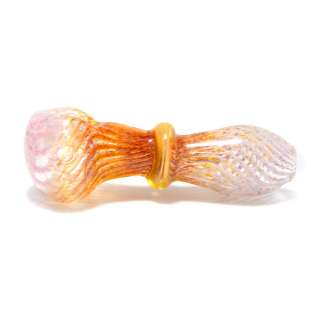 Water House Hand Pipe Lined Pink Gold & Silver Fume 1