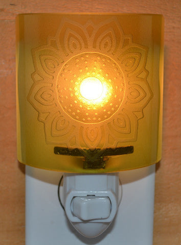 Glass night light - Sunflower