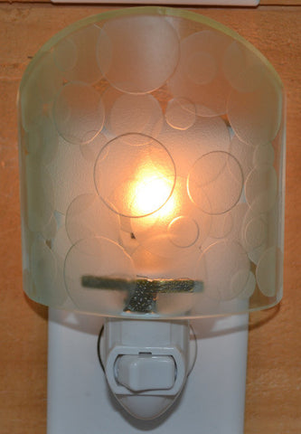 Glass night light - Clear Circles