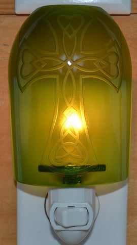 Glass night light - Green Cross