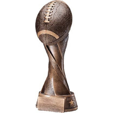 Football Trophy - Spiral Series Football - 4 Sizes (A2468) - Quest Awards