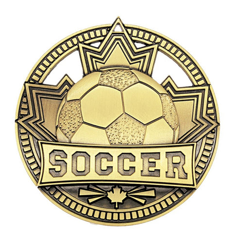 "Soccer Medallion - Gold Patriot 2 3/4"" Diameter - Gold (A3561) - Quest Awards"