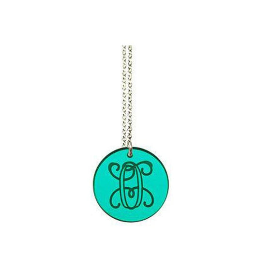 Acrylic Engraved Disc Necklace