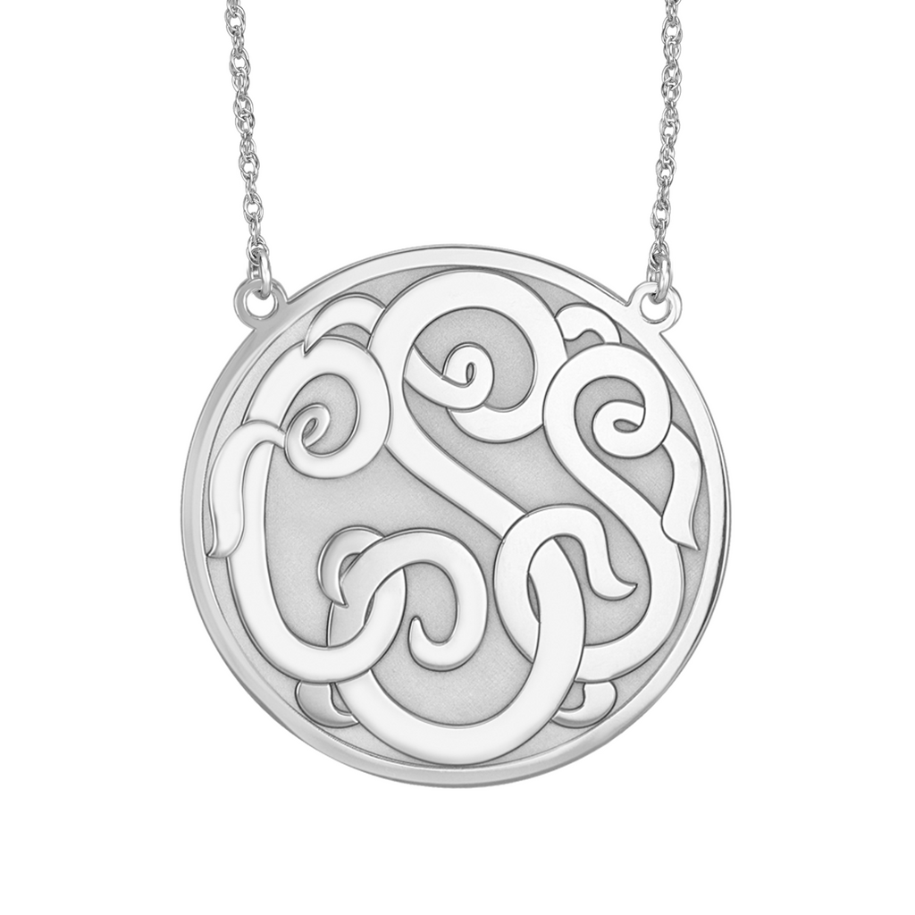 Recessed Script Monogram Necklace Alternate 1