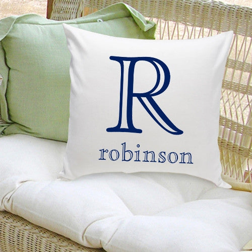 Monogram Throw Pillow - Family Initial