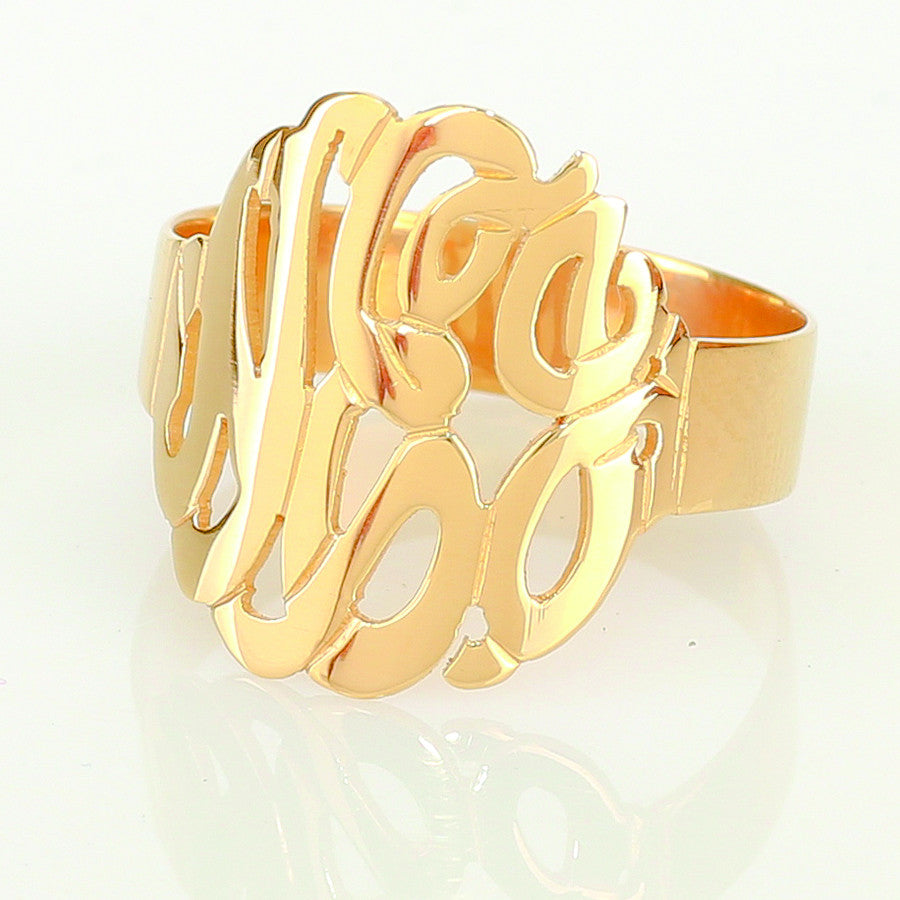 Cutout Monogram Ring 2