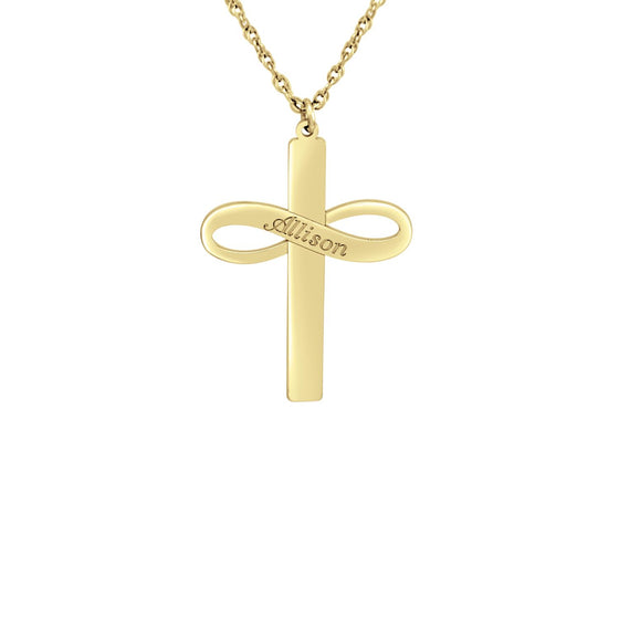 Infinity Name Cross Necklace