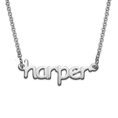 Acrylic Lowercase Name Necklace 4