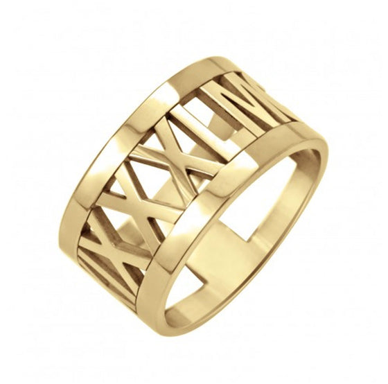 Large Roman Numeral Ring