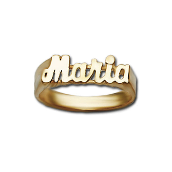 Small Gold Name Ring