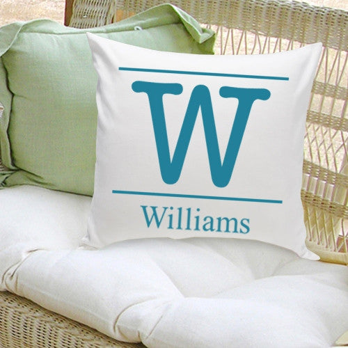 Monogram Throw Pillow - Typeset Family Initial
