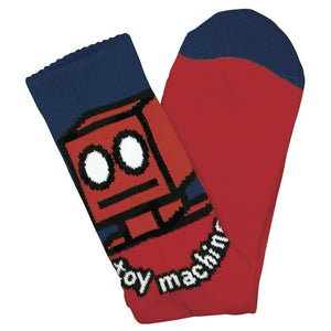 Toy Machine Robot Sock (Red)
