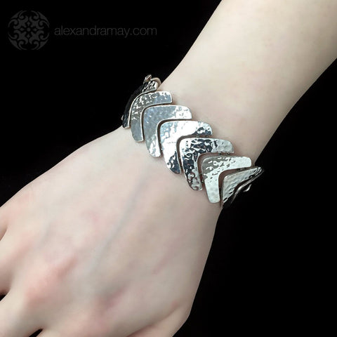 Cavendish French Sterling Silver Fishtail Link Bracelet (CF0001)