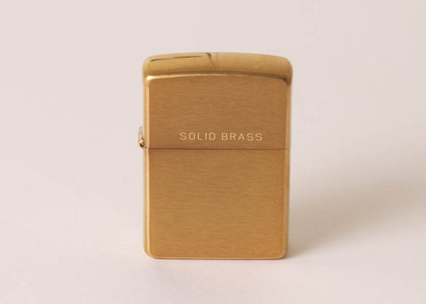Zippo Original Lighter - Brushed Brass