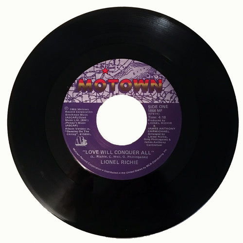 Lionel Richie Love Will Conquer All / The Only One - 7 inch